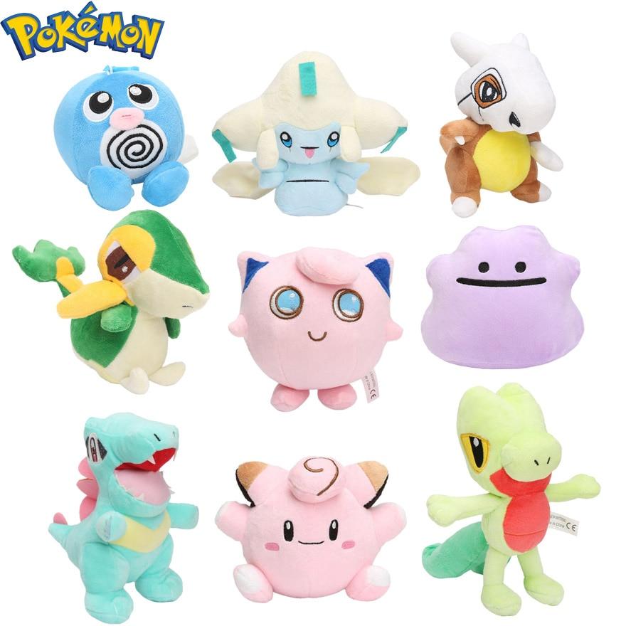 Pokemon Plush Jirachi Jigglypuff Torchic Togepi Poliwhirl Cubone Totodile Ditto Treecko Snivy Stuffed Animal Dolls Pokemon toys