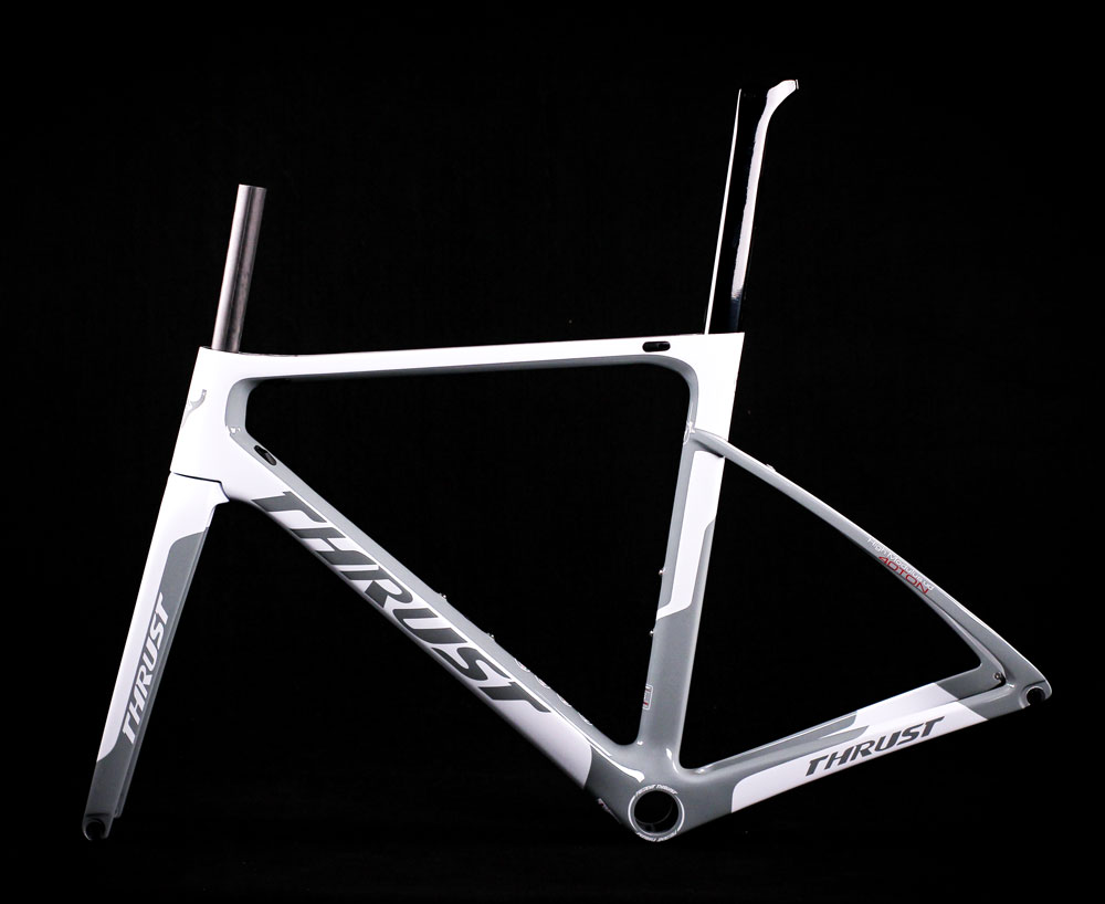 Bicycle Frame Carbon Road 2018 Carbon Bike Frame Super Light 700C Aero Bicycle Frameset with Fork Seatpost Headset Clamp 7 Color