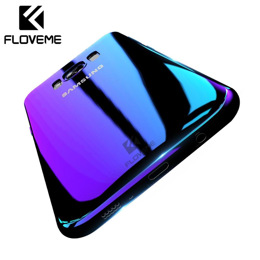 FLOVEME For Samsung Galaxy A5 2017 2016 Case For Samsung A3 2017 Blue Ray Gradient Light Case For Samsung Galaxy S8 S9 Plus Bag