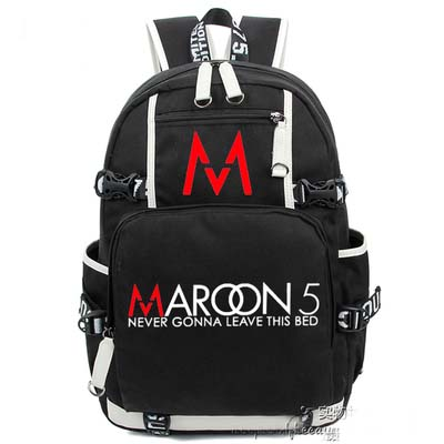 Hip Hop Maroon 5 Backpack Cosplay Fashion Canvas Bag Luminous Schoolbag Travel Bags