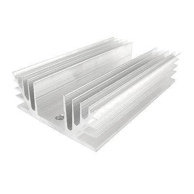 Silver Tone Aluminum Heat Sink for Three Phase Solid State Relay normally open single phase solid state relay ssr mgr 1 d48120 120a control dc ac 24 480v