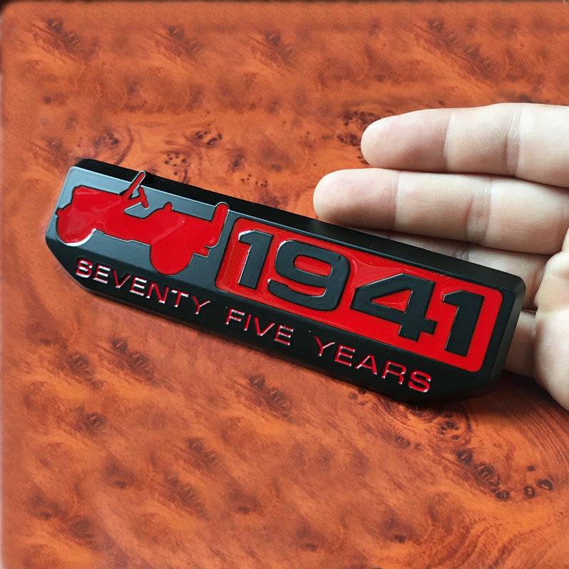 1 PCS 3D Metal 1941 Badge Trail Rated Emblem Decal Car Stickers For Wrangler Cherokee Renegade Car Accessories Car Styling