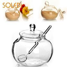 SOLEDI Бытовая 250 мл стеклянная банка для конфет специй домашняя сахарница Saleros De Cocina