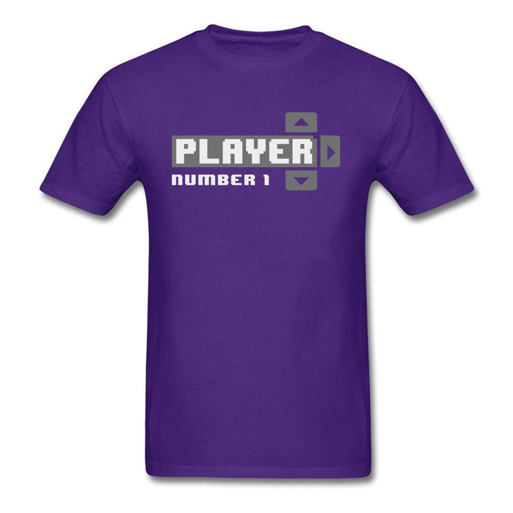 Player Number 1 All Cotton Tops T Shirt for Men Leisure T Shirt 3D Printed Prevailing O-Neck Tops Shirt Short Sleeve Player Number 1 purple