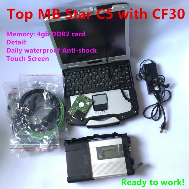 Big Sale MB Star C5 SD Connector C5 with latest 2018.09 diagnostic software vediamo0/X/DSA/DTS mb star c5 with CF30 Laptop ready to work