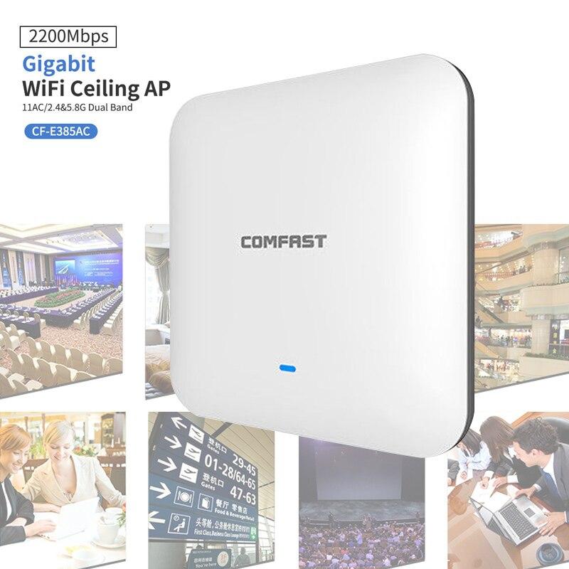 CF-E385AC 2200 M Gigabit double bande routeur WAVE2 plafond sans fil WiFi AP répéteur de Point d'accès XXM8