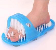 Hallux Valgus Brush Feet Bath Shower Pumice Stone Wash Foot Care Scrubber Massager Health Slipper Bristles Bending Exfoliates