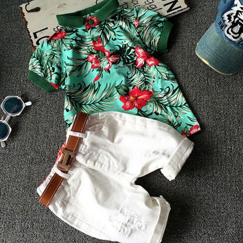 New Toddler Boy Clothing Suits Summer Children Clothing Set Handsome Kids Boy Clothes Set 2pcs Tops+Pants Vetement Enfant Garcon