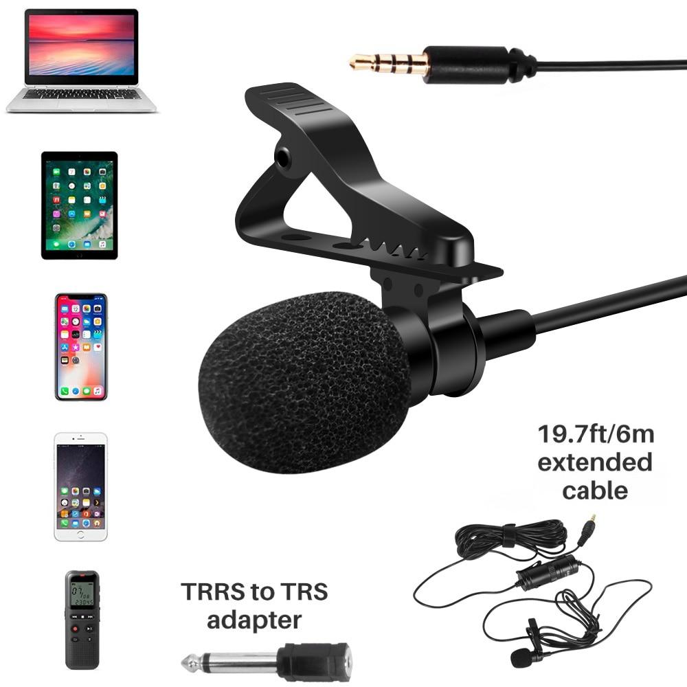 BOYA BY-M1 micrófono de solapa 6 M Microfone para grabadora de Video de la entrevista de solapa MIC para Smartphone cámara DSLR microfono