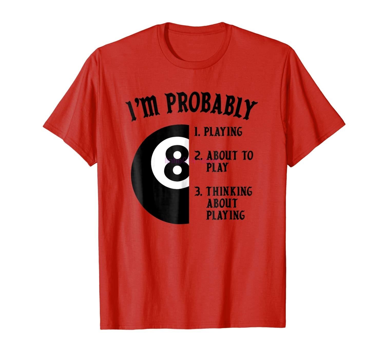 GILDAN brand men shirt 8 Ball Pool Player Billiards Novelty Gift T Shirt