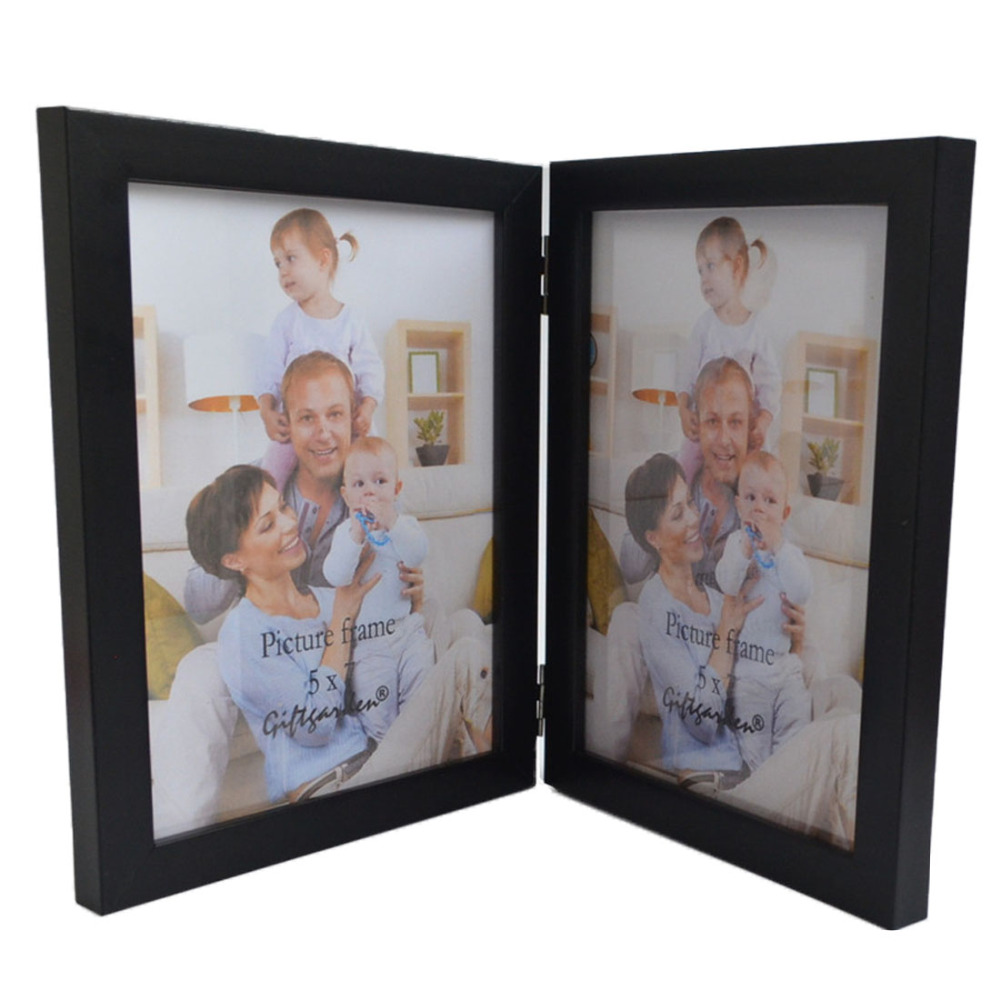 giftgarden 5x7 double wood picture frame black
