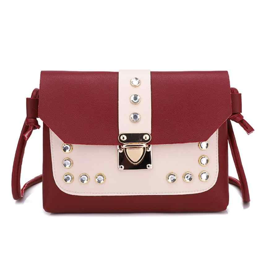Bolsa feminina feminina de marca famosa sacos para mulher l * 5 bolsa de ombro de strass