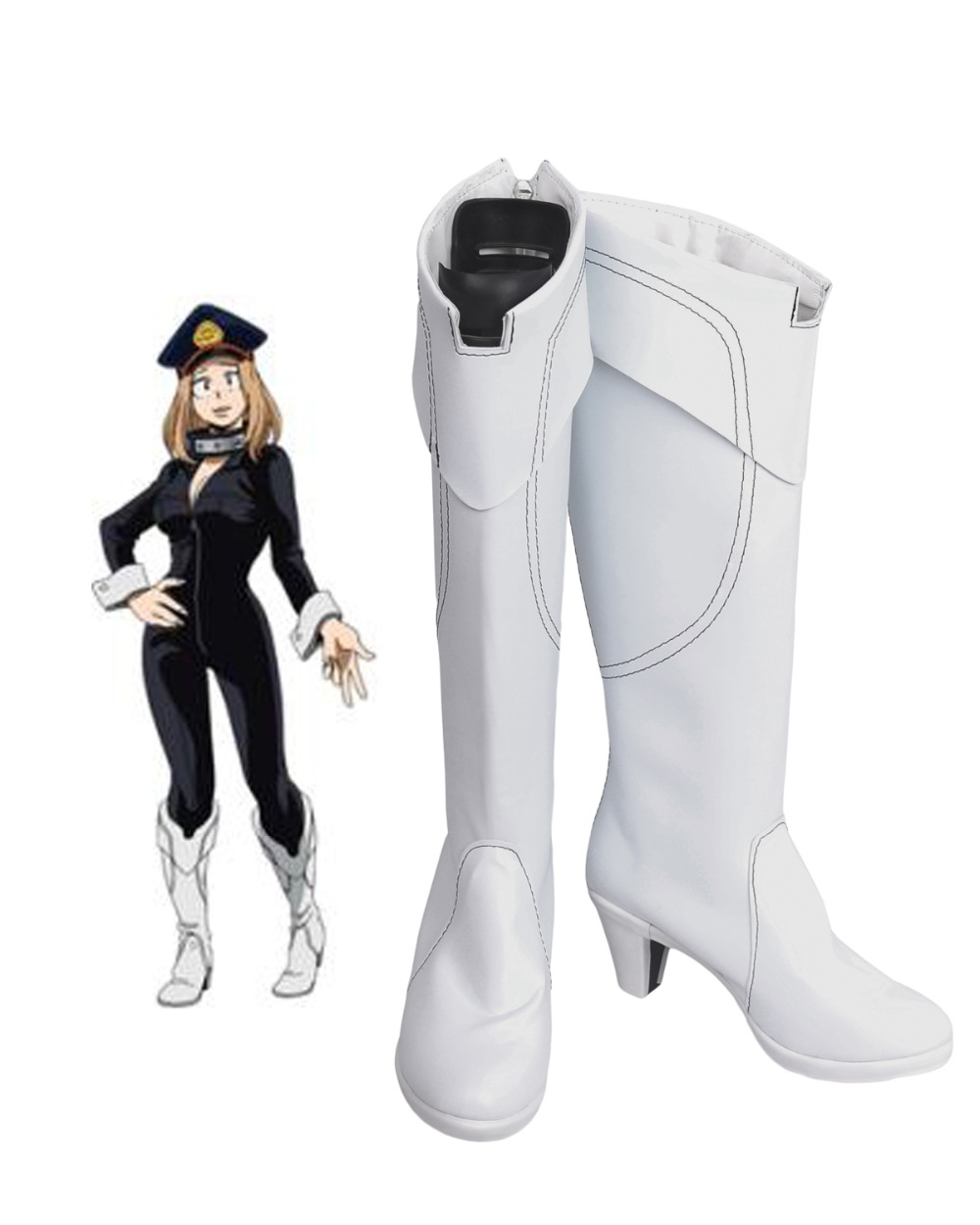 Camie Utsushimi Cosplay Boots Boku no Hero Academia Cosplay White Shoes My Hero Academia Cosplay Custom
