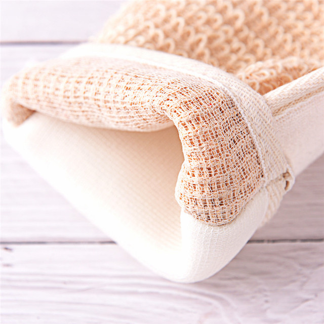 1pc Bath Hemp Shower Tubs Remove Bath Exfoliating Gloves Dirt Rubs Back Blood Bath Glove Bath Sauna Accessories hot sale 3
