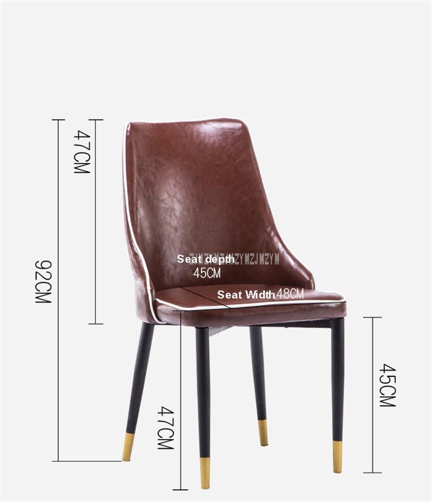 Oil Wax Leather Dining Chair