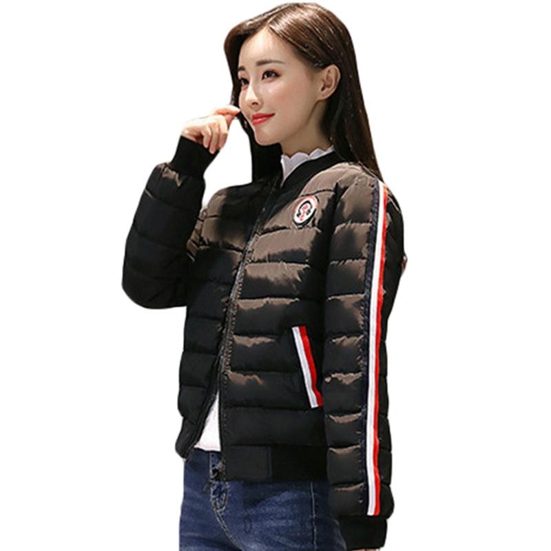 2019 New Fashion Warm Winter Jacket Women 5 Colors Down   Parkas   Cotton Padded Jacket Girls Slim Thick Short Female Jacket Coat