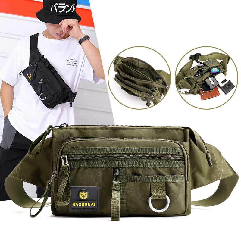 Motorcycle Riding Male Belt Waist Pack Bags High Quality Pouch Military Shoulder Bag Travel Men Nylon Hip Bum Fanny Chest Pack