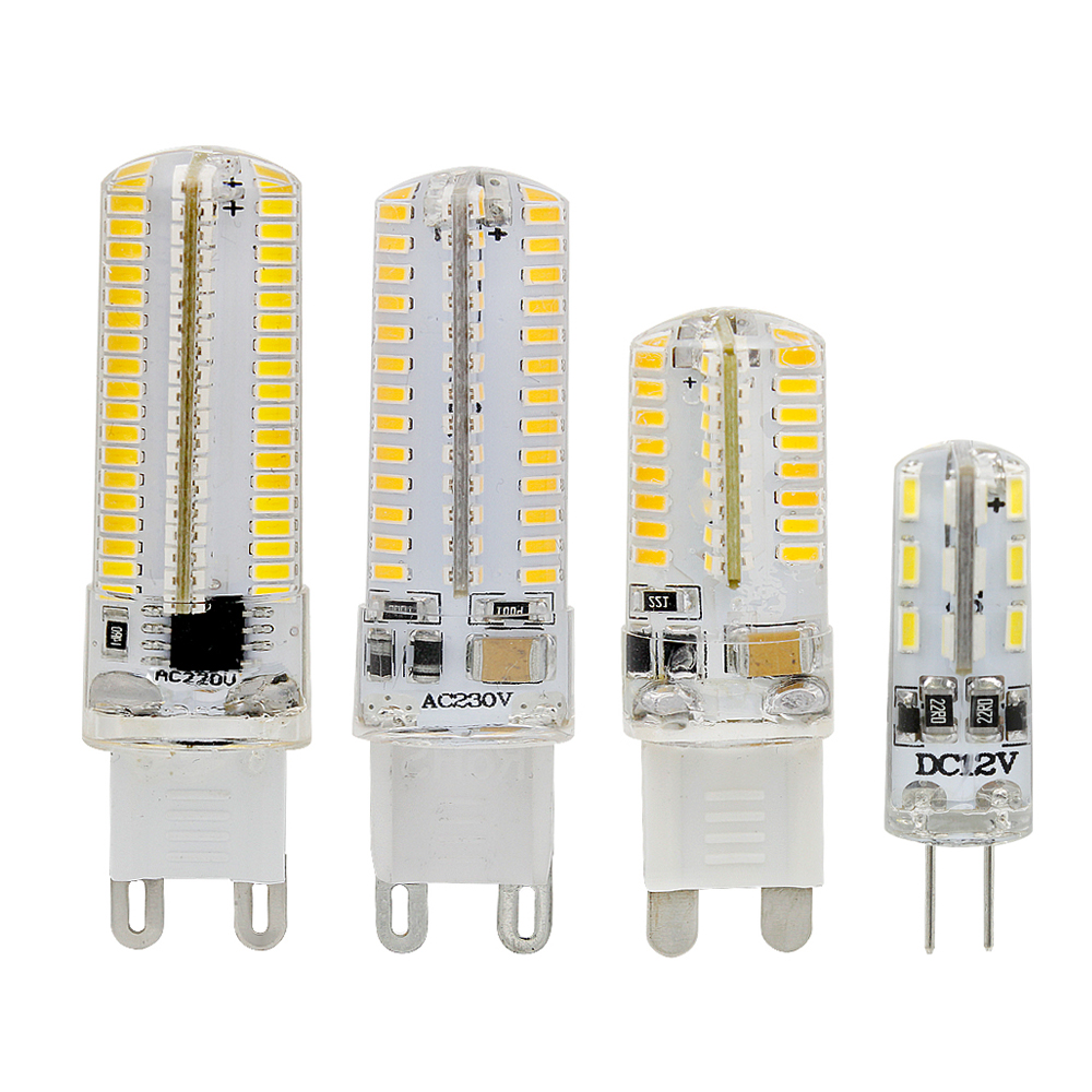 1W 3W 4W 5W SMD LED Bulb 24 64 104 152 LEDs 220V 110V G9 12V G4 LED Corn Light For Candle Lamp Crystal Chandelier