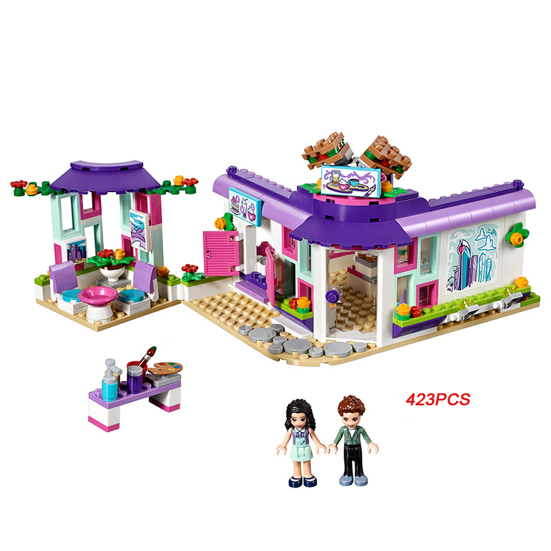New city my good friends emma art cafe building block figures Coffee shop bricks 41336 toys for girls gifts