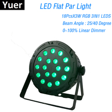 LED Par Lights 18X3W RGB 3IN1 With DMX 512 For Club Disco Dj Decoration Wedding Party Events Lighting Shows Projector