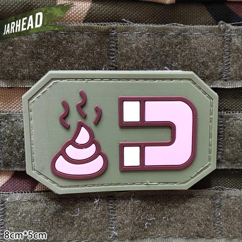 Gówno misji taktyczne pcv plastry na rzep gumowa opaska na ramię odznaka wojskowa osobowości dla plecak kapelusz ubrania kurtka
