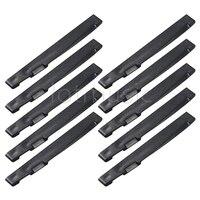 10pcs Black Plastics Acoustic Guitar Saddle Compensated 72mm x 2.9 x 9mm