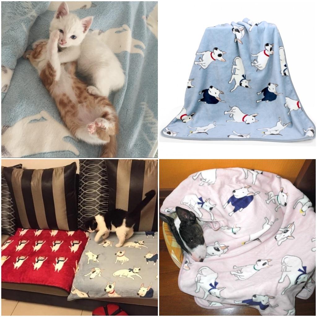Razno runo deke za mačke Bullterrier buldog krevetske prostirke Kućne mačke psi krevet deka pokrivač za kauč na razvlačenje