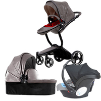 Free ship! Foofoo 3 in 1 baby strollers and sleeping basket newborn baby carriage Europe baby pram gold frame with car seat