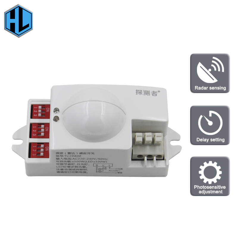 High-quality Microwave Radar Switch AC 110V 50Hz High-Frequency Intelligent Body Sensor for Shopping Restaurants