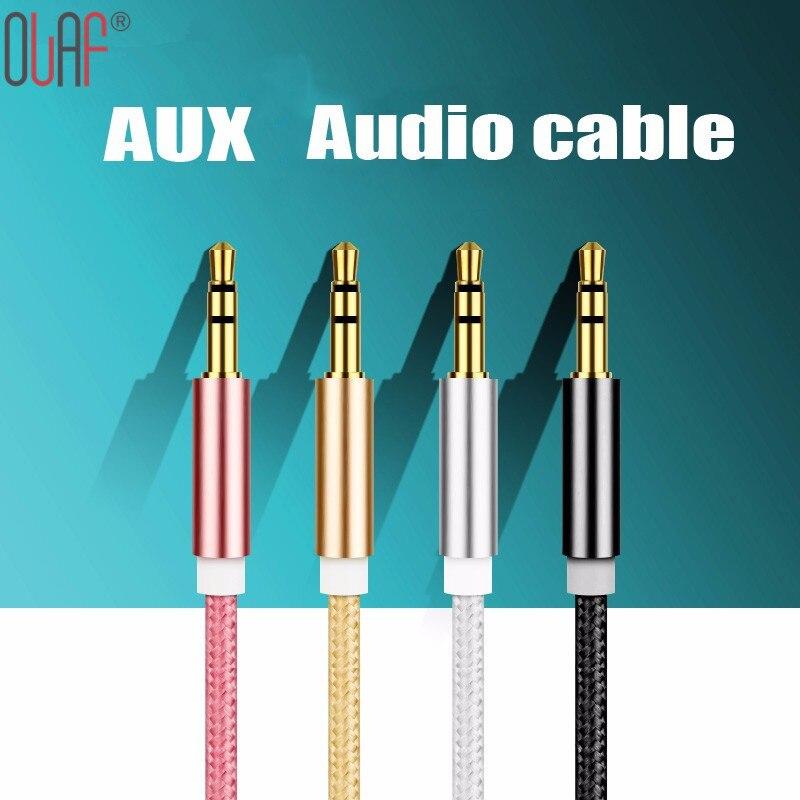 car audio wire colors promotion shop for promotional car audio 3 5 mm jack aux cable for iphone samsung mp3 mp4 car audio cable wire 5 colors copper nylon headphone beats speaker aux cord