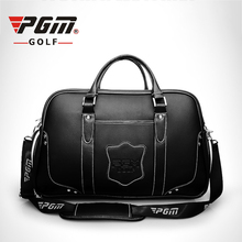 ФОТО pgm professional golf clothing bag genuine leather sports handbag high capacity golf bags for shoes clothes golf accessories bag