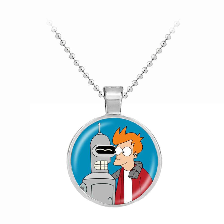 Hot Moda Futurama chave charme da cadeia Do Punk Colares de jóias Pingente para Homens presente Criativo Presentes Pingente de correntes No Pescoço para crianças