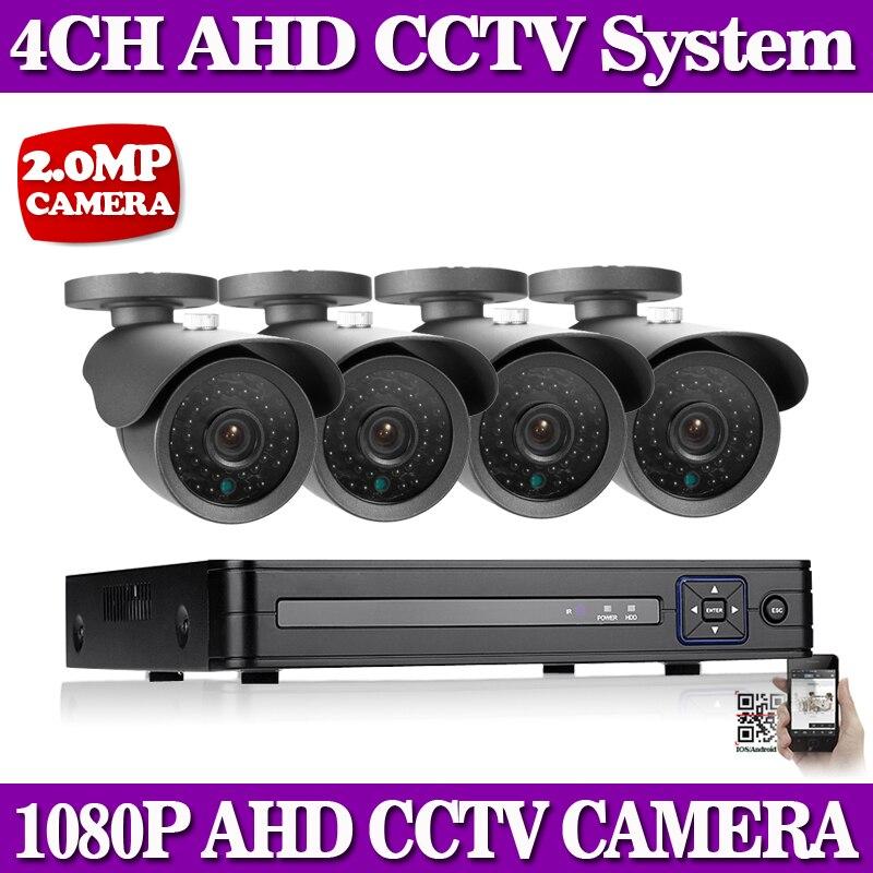 NINIVISION Security Camera System 4ch CCTV System 4 x 1080P CCTV Camera 2 0MP Camera Surveillance