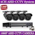 NINIVISION Sistema CCTV 4ch Sistema de Câmera de Segurança 4x1080 P Câmera 2.0MP Camera Kit Sistema de Vigilância CCTV Camaras Seguridad