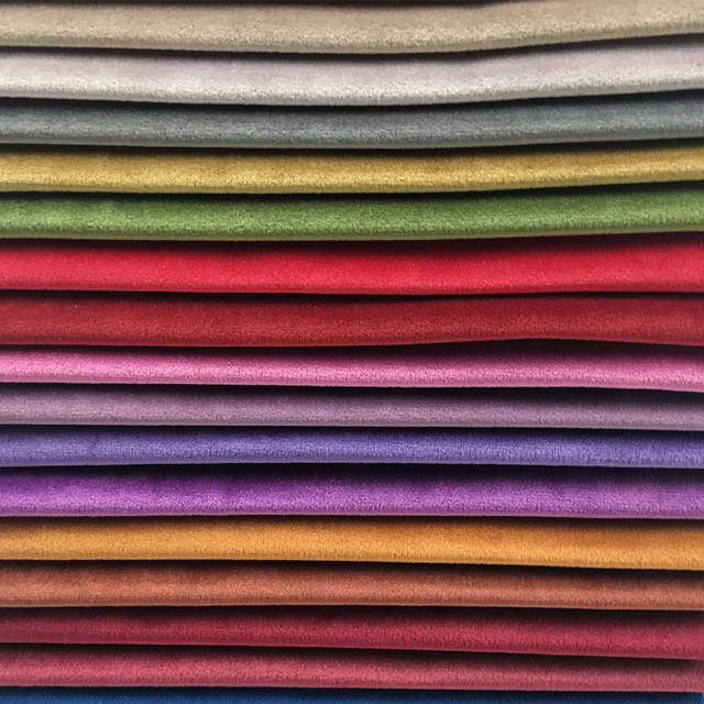 New 50 Colors Solid Plain Dyed Velvet Cloth Sofa Chair Hotel Home Decorative Drapery Upholstery Fabric