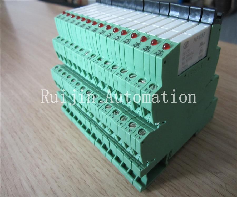 slim terminal block 230vac dc compatible phoenix relay modules plc