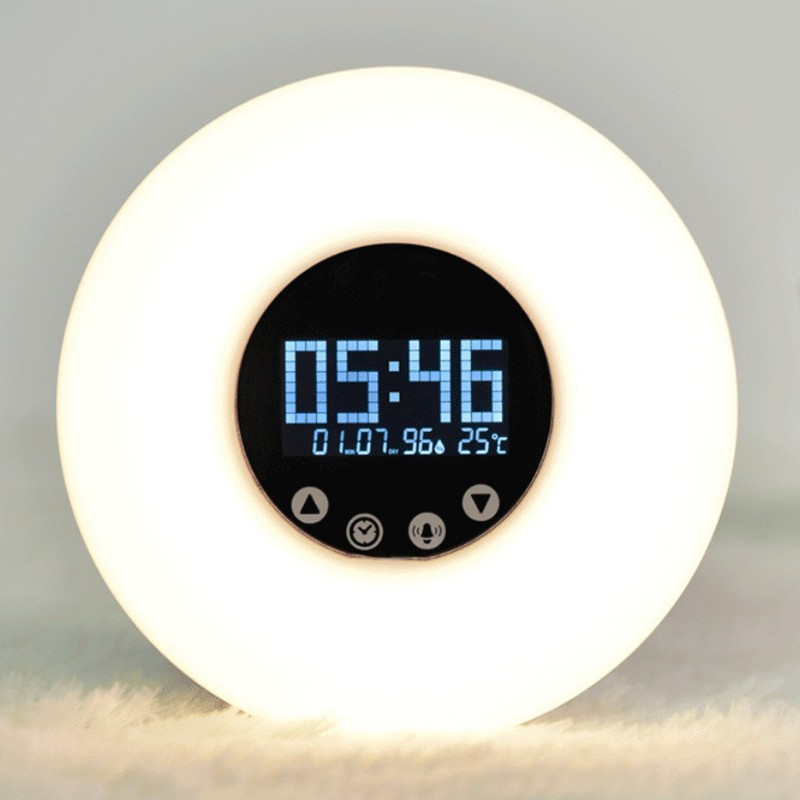 HZFCEW USB Rechargeable Wake Up Light Magical Bluetooth Light Speaker Touch Dimming Alarm Clock Colorful Lamp with Clock/Alarm novelty run around wake up n catch me digital alarm clock on wheels white 4 aaa