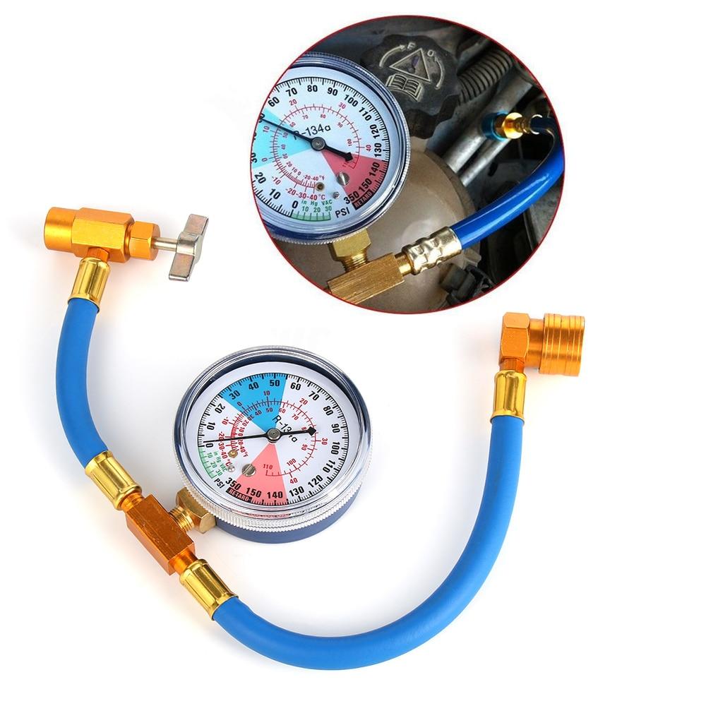 1//2 ACME Car Air Conditioning Refrigerant Recharge Hose Gas Gauge R134A Car