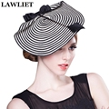 Trendy Cupid Zebra Womens Dress Fascinator Straw Hat Party Wedding Church Hats for Women Show A003