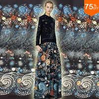 new night Star sky powderful design most colorful Luxury elegant embroidery lace for Dress design competition design competition