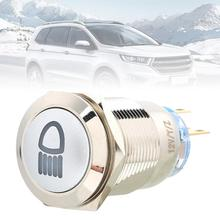 19mm Metal Push Button Switch Car Ring LED 12V Light 5 Pin Latching Locking NO NC