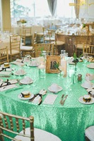 Round Sequin Tablecloth 156Inch Round Light Green Round Glitter Table Cloth Linen For Wedding/Party/Banquet Decoration Z