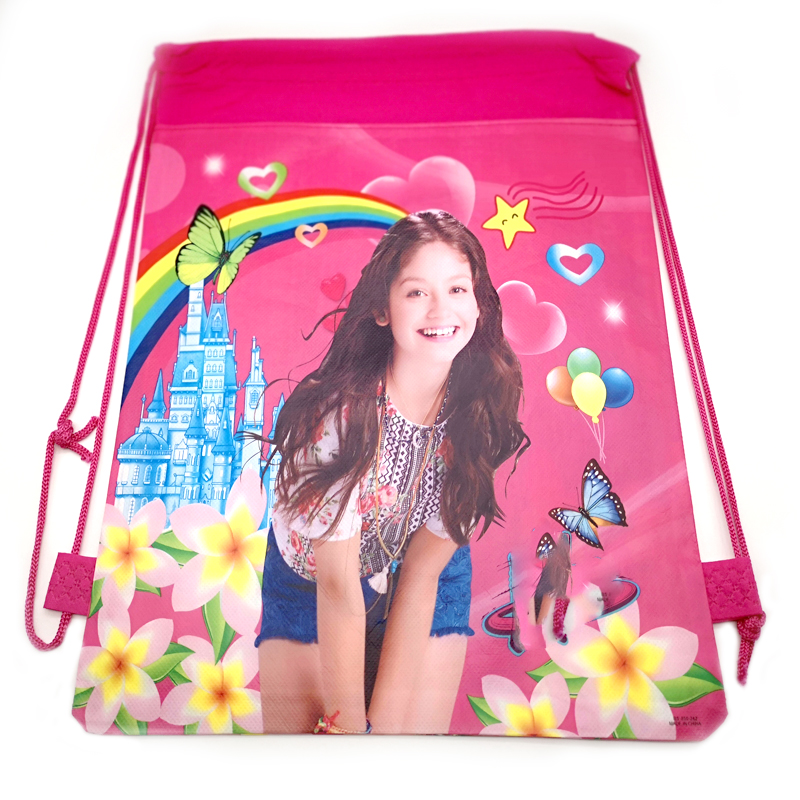 Decorate Soy Luna Theme Girls Favors Mochila Happy Birthday Party Drawstring Gifts Loot Bags Baby Boys Shower Backpack 1PCS/pack