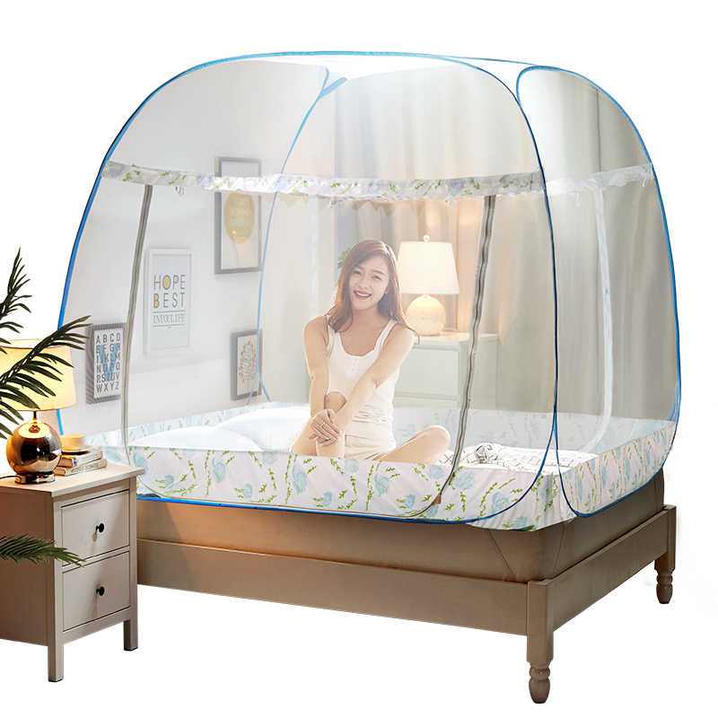 Pink Blue Portable Mosquito Net for Double Bed,Folding Tent Bed,Bed Canopies Adults,Yellow Mosquito Nets,Kids Mosquitero Netting