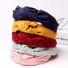 Fashion Fabric Knot Női Bow Fejpánt Haj fej sáv karika tartozékok Dísz nők lányok hairband fejdísz Turbán