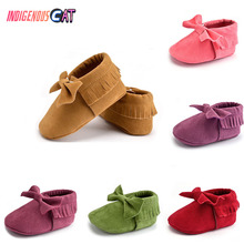 2019 New Baby Shoe Handmade Soft Bottom Fashion Tassels Moccasin Newborn Babies Shoes 19-colors PU Leather Prewalkers Boots
