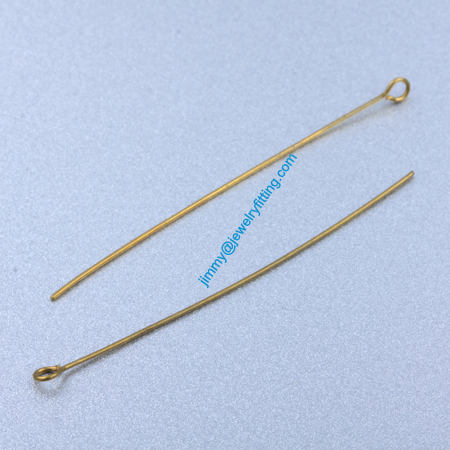 Jewelry Making findings Raw Brass Eye Pins ;Scarf Pins findings 0.5*45mm shipping free