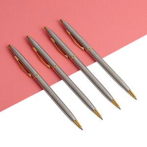"Image 4 - 20 יח\חבילה קלאסי באיכות גבוהה ספין עט נירוסטה מוט מסתובב מתכת עט כדורי מכתבים עטי כתיבה 0.7 מ""מ"