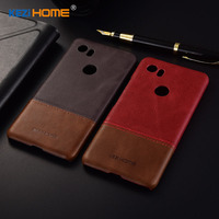 For Google Pixel 2 XL Case Two Colors Genuine Leather Back Shell Cover Case For Google