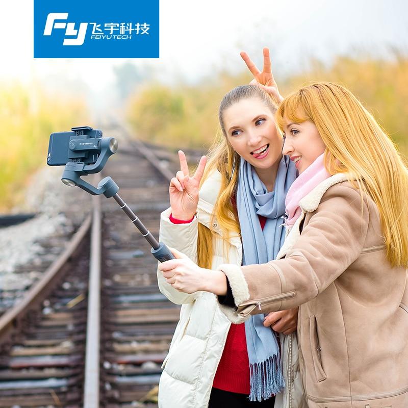 Feiyu Vimble 2 stabilisateur vidéo à cardan 3 axes extensible pour iPhone Samsung Gopro Xiaomi yi 4 k PK lisse Q/lisse 4